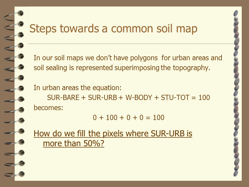 In our soil maps we dont have polygons for urban areas and soil sealing is represented superimposing the topography.