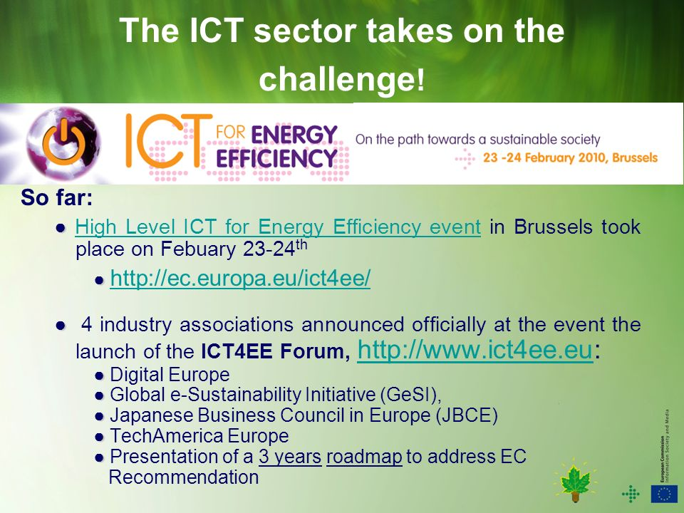 The ICT sector takes on the challenge .