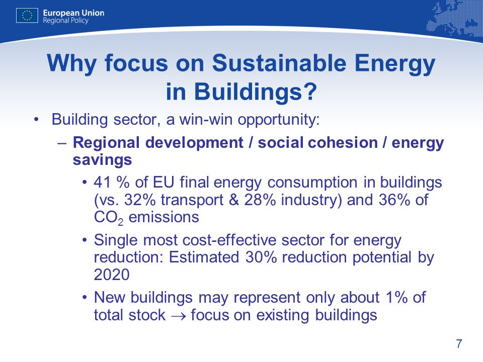 7 Why focus on Sustainable Energy in Buildings.