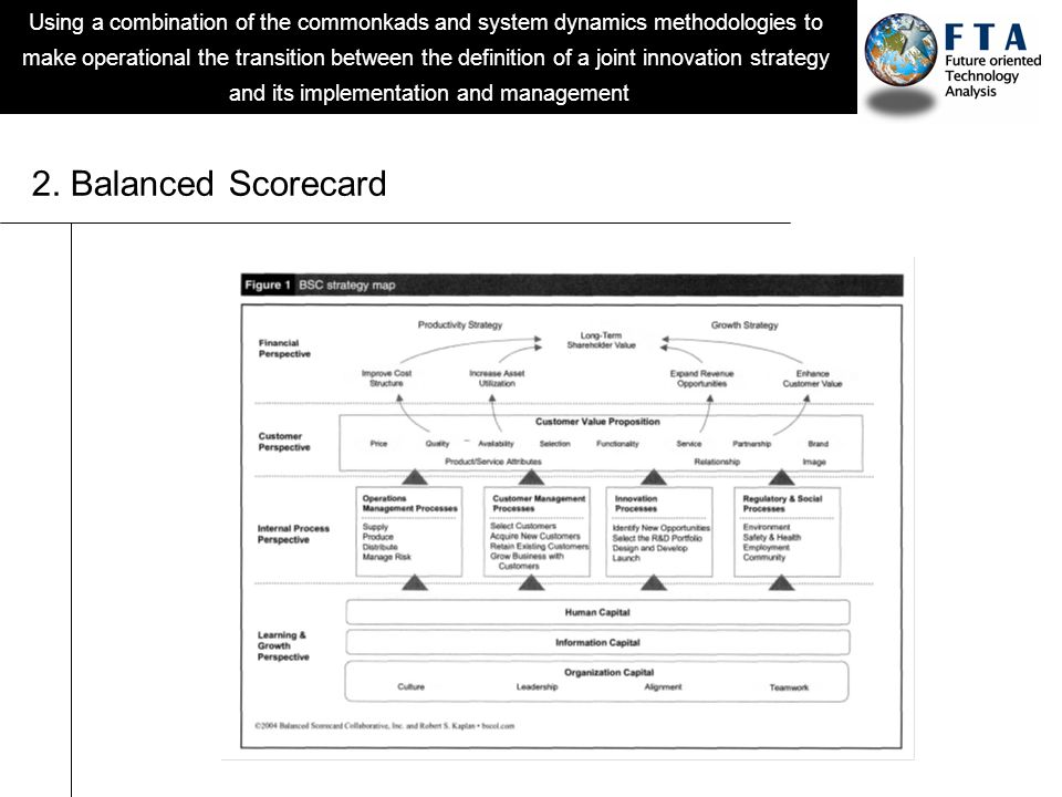Using a combination of the commonkads and system dynamics methodologies to make operational the transition between the definition of a joint innovation strategy and its implementation and management 2.