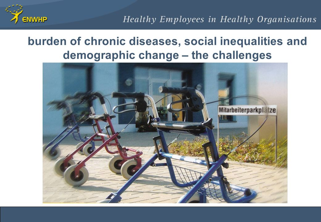 burden of chronic diseases, social inequalities and demographic change – the challenges