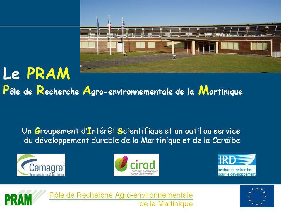 2 Le PRAM P ôle de R echerche A gro-environnementale de la M artinique Un Groupement dIntérêt Scientifique et un outil au service du développement durable de la Martinique et de la Caraïbe