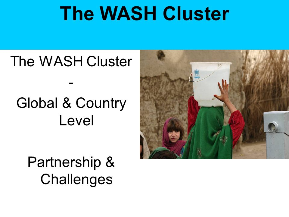 The WASH Cluster - Global & Country Level Partnership & Challenges The WASH Cluster