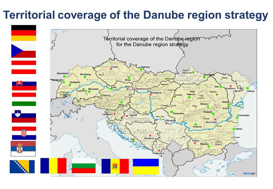 © via donau I 2 Territorial coverage of the Danube region strategy