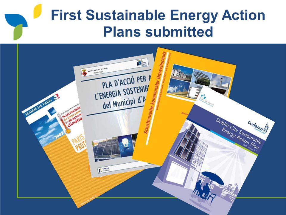 First Sustainable Energy Action Plans submitted