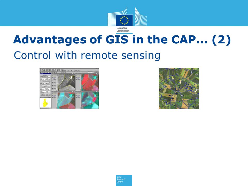 Advantages of GIS in the CAP… (2) Control with remote sensing