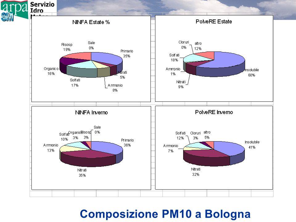 Composizione PM10 a Bologna