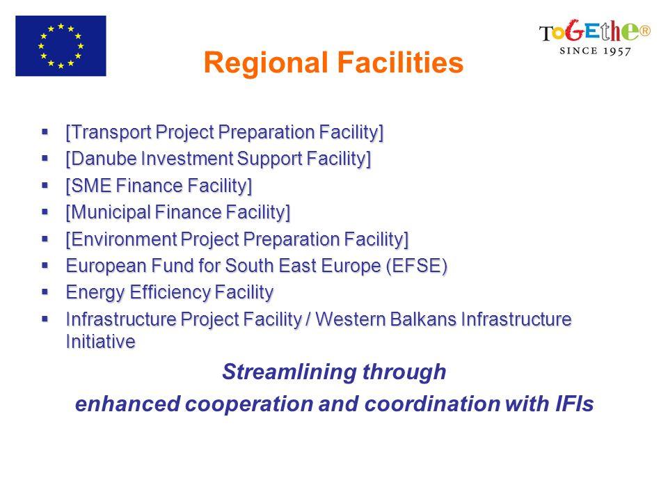 Regional Facilities [Transport Project Preparation Facility] [Transport Project Preparation Facility] [Danube Investment Support Facility] [Danube Inv