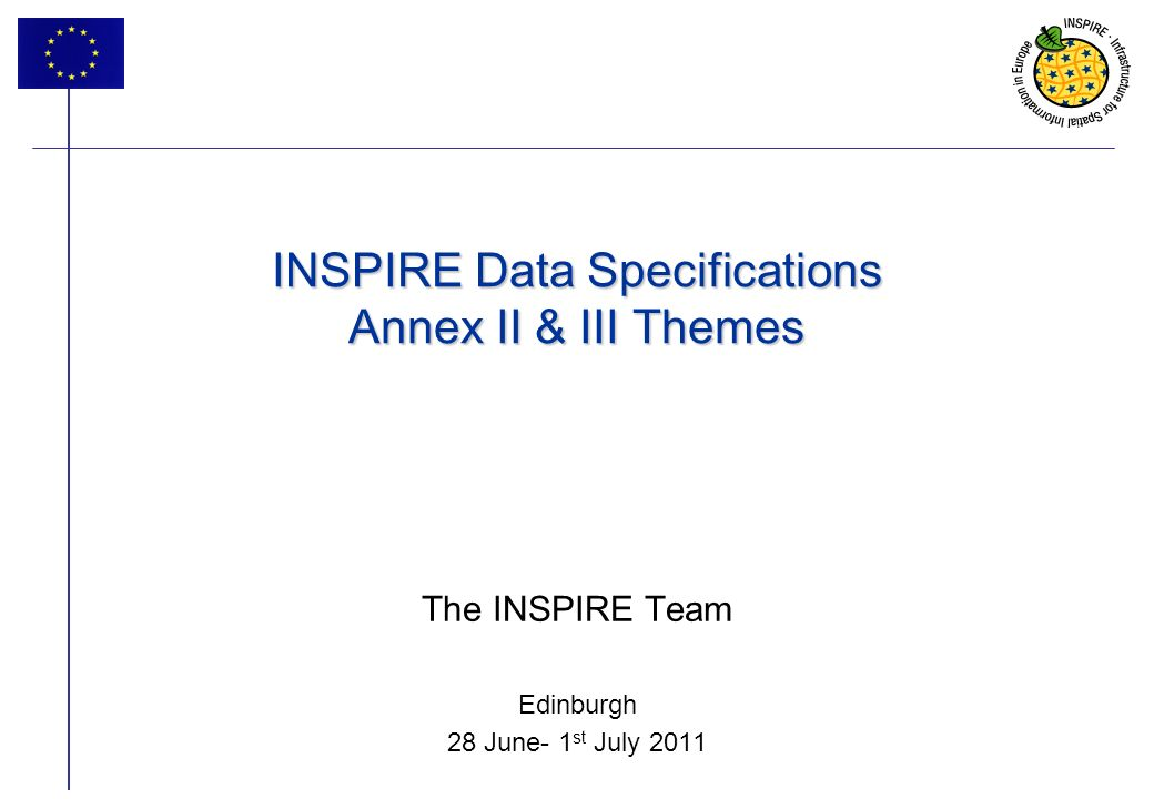 2 INSPIRE progress 2 Introduction INSPIRE Data Specifications track - 6 sessions Reporting from Thematic Working Groups What was done Next steps: roadmap Maintenance and implementation