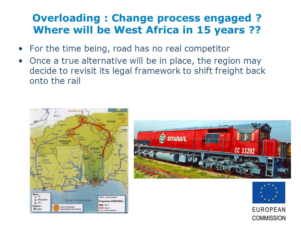 Overloading : Change process engaged ? Where will be West Africa in 15 years ?? For the time being, road has no real competitor Once a true alternativ