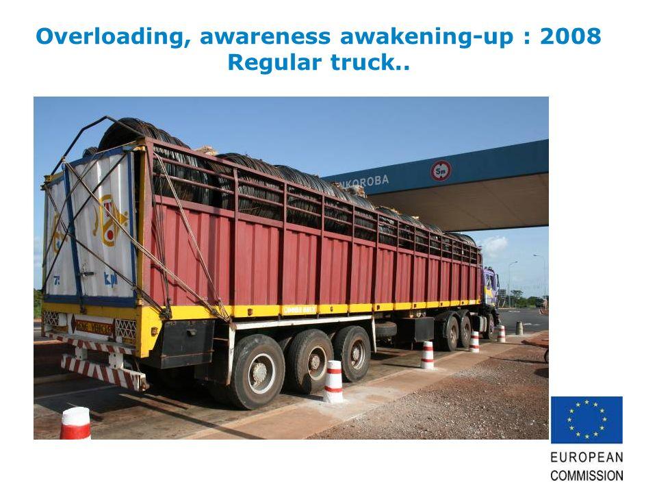 Overloading, awareness awakening-up : 2008 Regular truck..