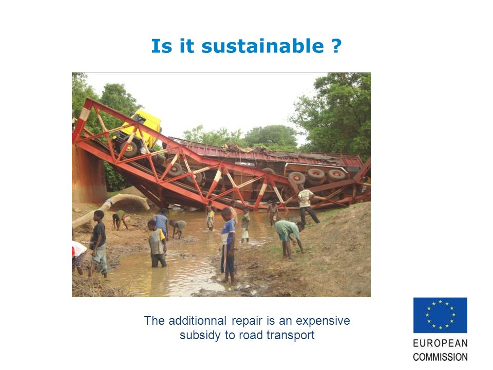 Is it sustainable ? The additionnal repair is an expensive subsidy to road transport
