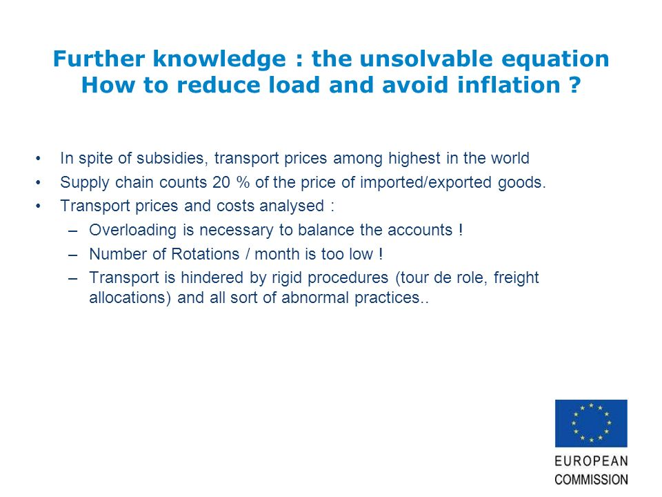 Further knowledge : the unsolvable equation How to reduce load and avoid inflation .