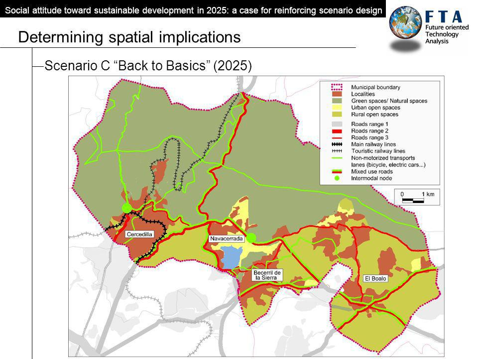 Scenario C Back to Basics (2025) Social attitude toward sustainable development in 2025: a case for reinforcing scenario design Determining spatial implications