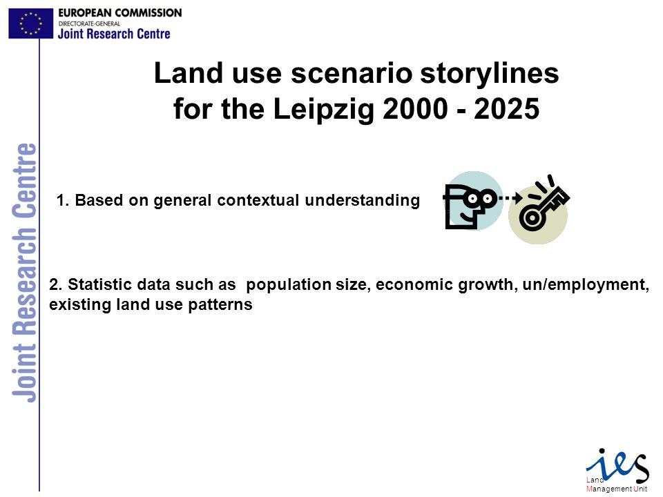 Land Management Unit Socio-economic factors in scenario building