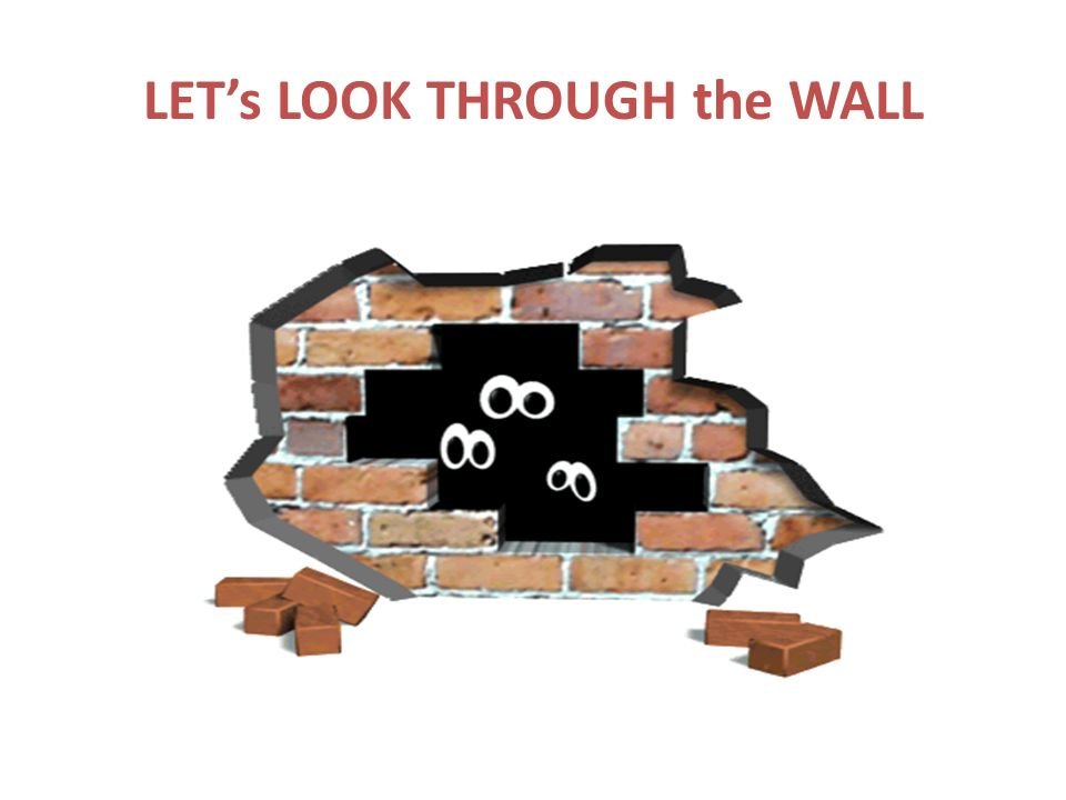 LETs LOOK THROUGH the WALL