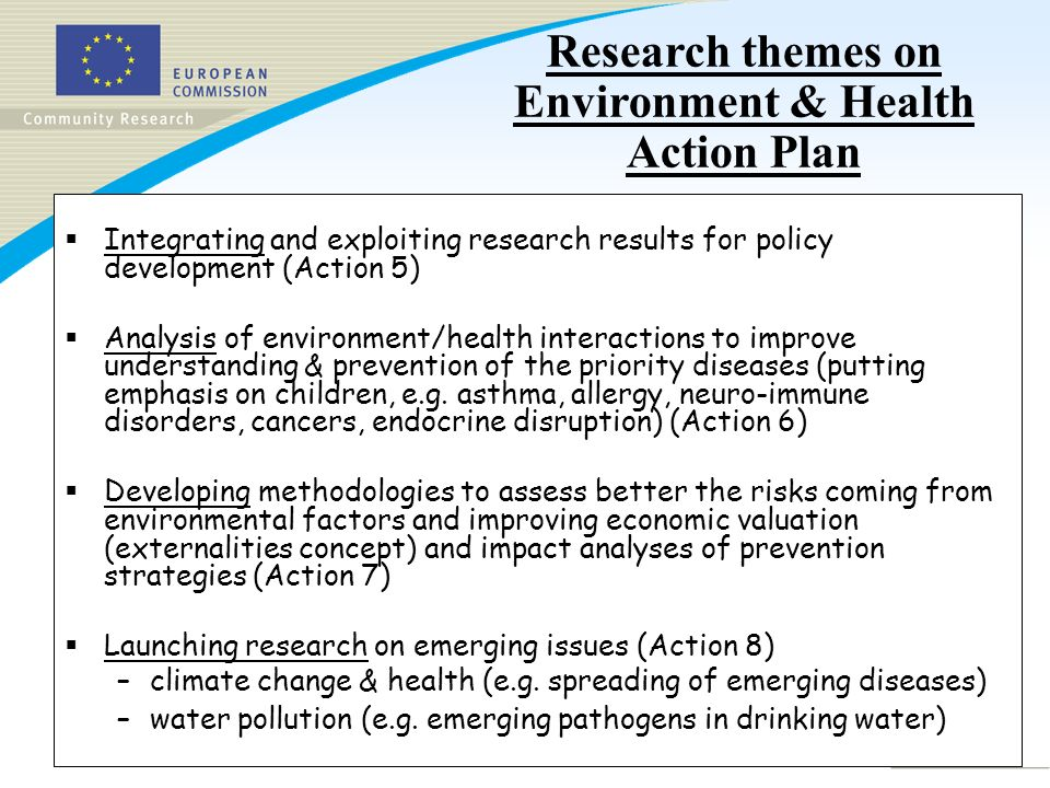 Slide 3 Scientific Workshop, 21 November 2005, Brussels aims to : explore the contribution of EU-funded research from FP5 and FP6 to human biomonitoring overview of existing European cohorts pilot studies to validate study protocols development of biomarkers harmonising population-based biobanks Synthesizing research results for supporting Human Biomonitoring