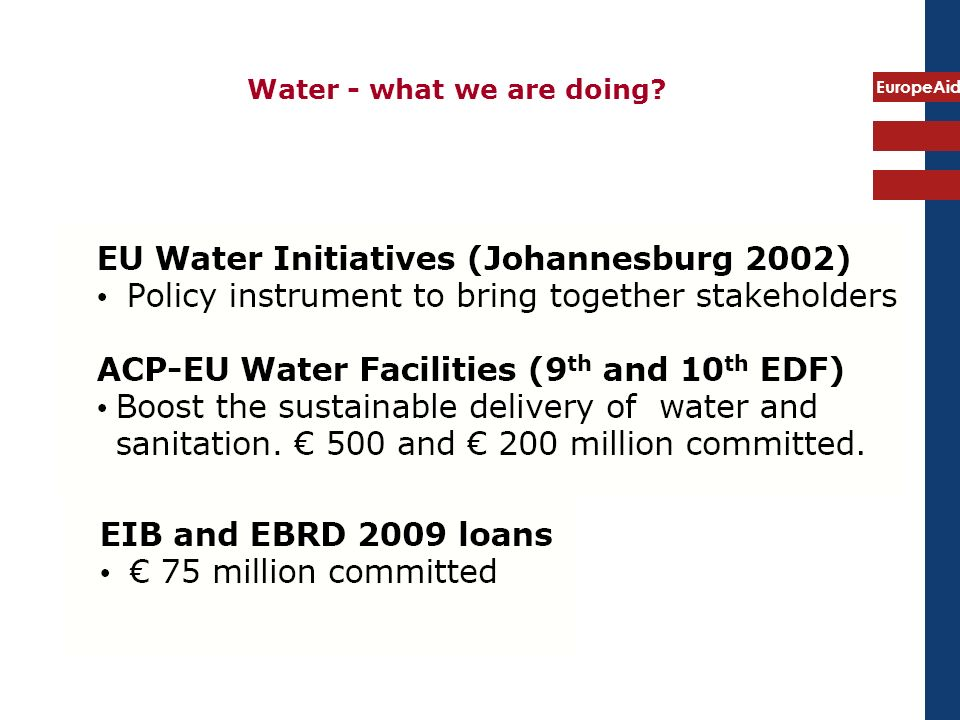 EuropeAid Water - what we are doing