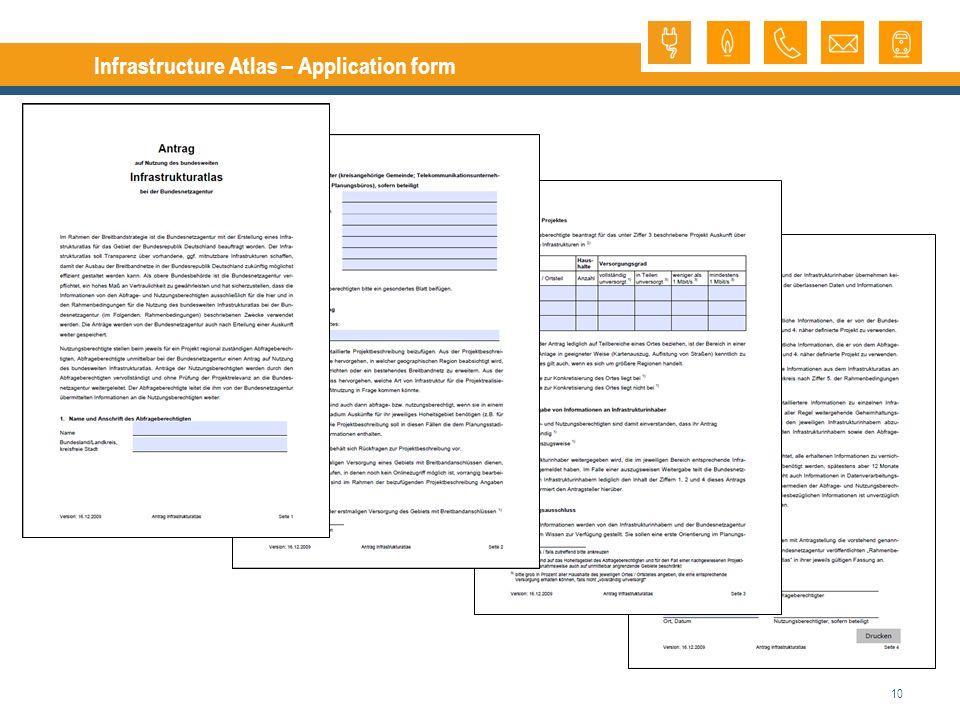 10 Infrastructure Atlas – Application form