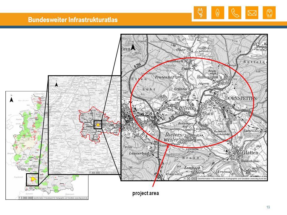 19 Bundesweiter Infrastrukturatlas project area