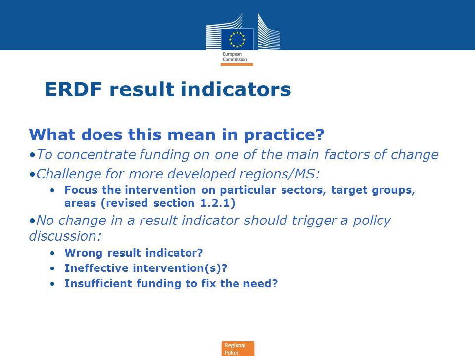 Regional Policy Useful links: Annex 2 Monitoring and evaluation guidances REGIO/EMPL EU2020 flagship initiatives Partnership principle (cf Code of conduct) RIS3 (Smart Specialisation Strategies) SEA (Directive, Guidance) EVALSED (evaluation of socio-economic development)