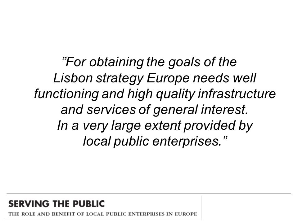 Local public enterprises have a strong interest for a clear and well defined ownership control and concrete owner directives.