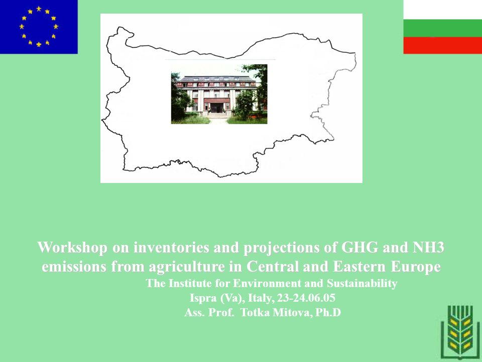 THE MAIN FACTORS INFLUENCING ON ACTIVITY DATA NECESSARY FOR ESTIMATION AND CALCULATION OF GHG EMISSION FOR BULGARIA 1.