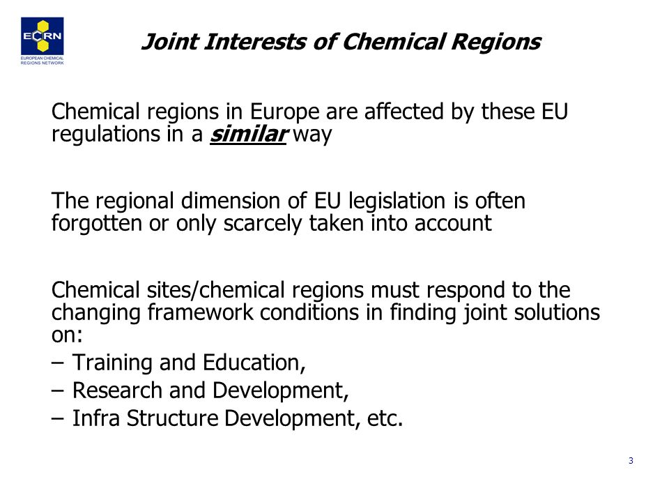 4 Steps to set up the network 1st Congress of Chemical Regions on 21st of May 2003 –250 Participants –2 Commissioners –30 CEO of Chemical Companies and Site Initiatives 17.09.03 Joint Application of Lombardy, Saxony-Anhalt and Asturias in the call of DG Research on Knowledge Region 17.09.
