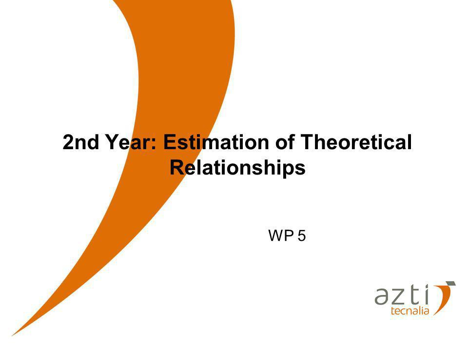 2nd Year: Estimation of Theoretical Relationships WP 5