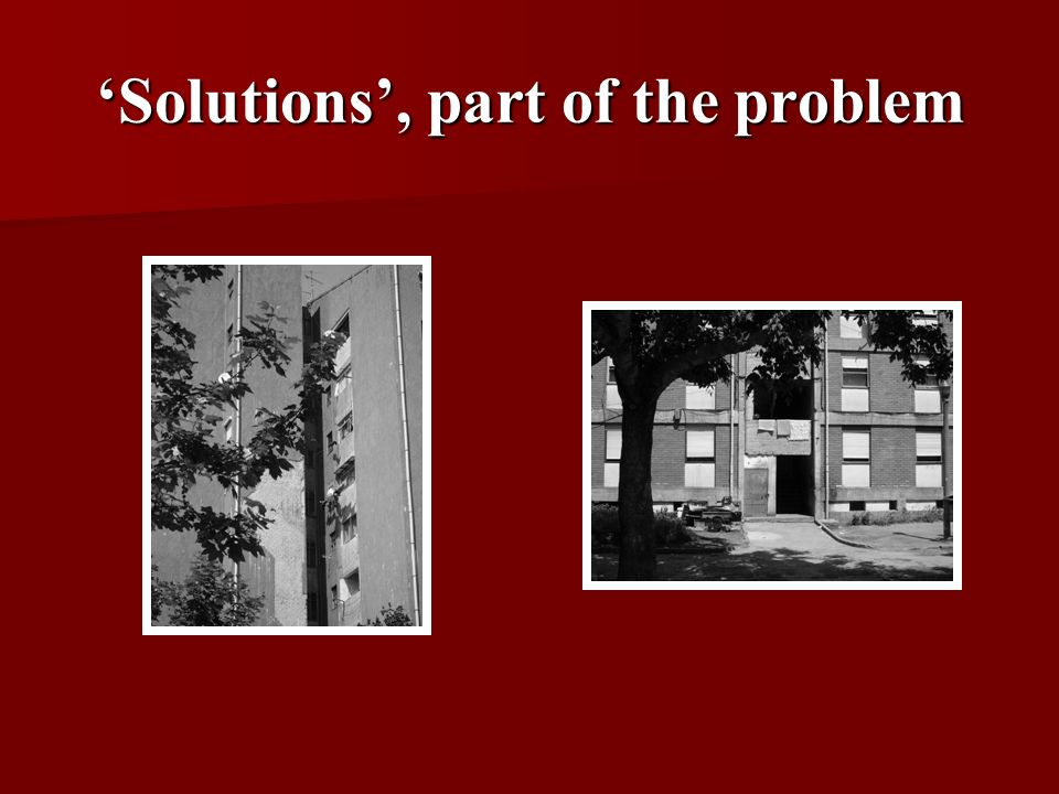 Solutions, part of the problem