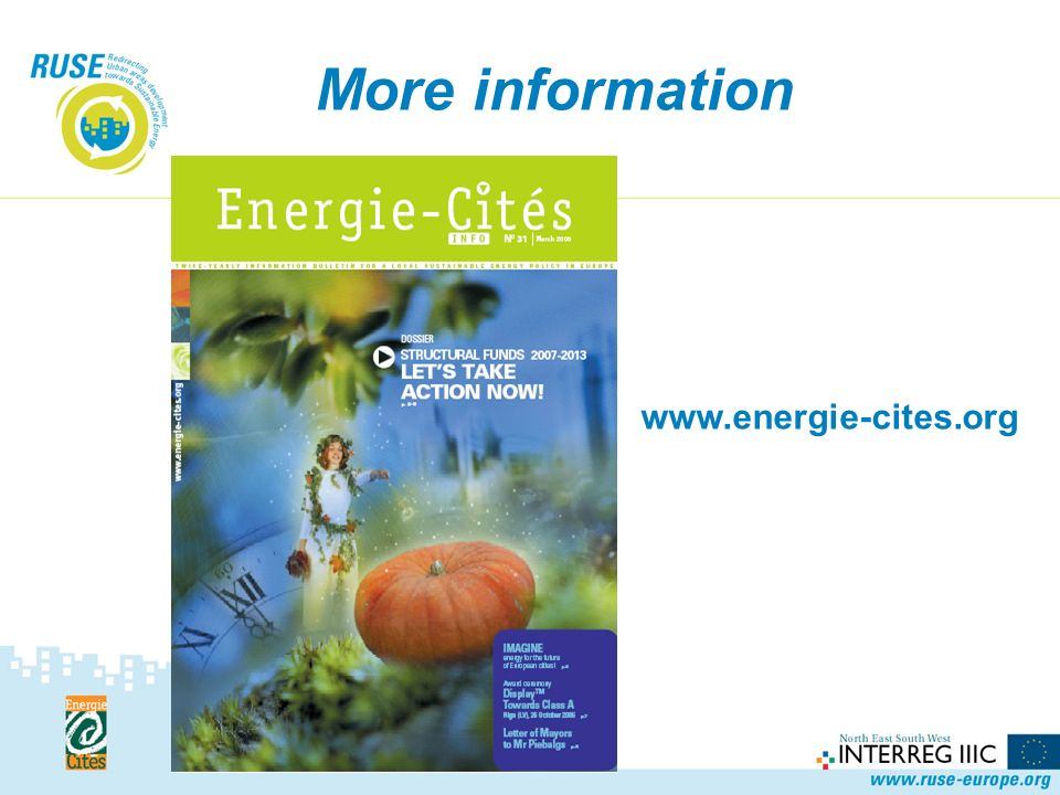 More information www.energie-cites.org