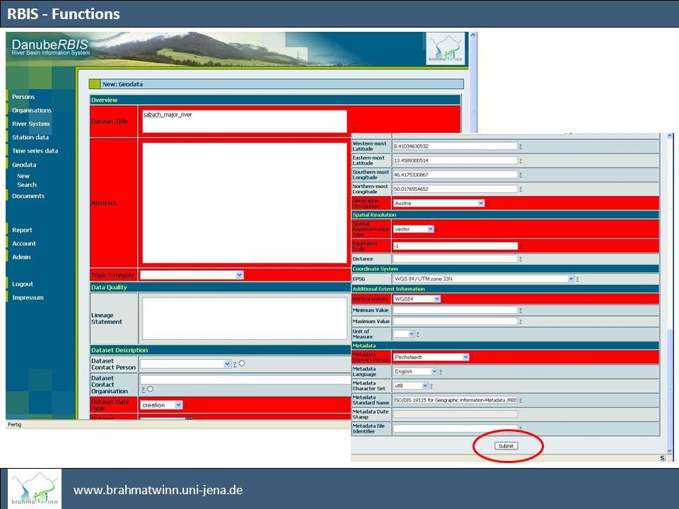 www.brahmatwinn.uni-jena.de RBIS - Functions