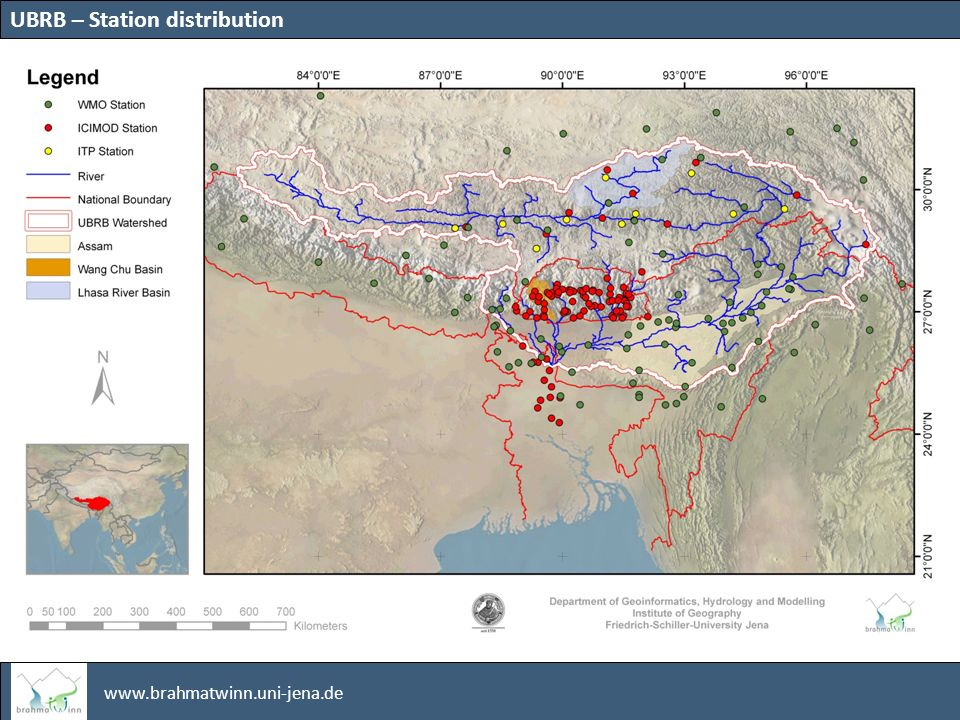 www.brahmatwinn.uni-jena.de Historical Data Spatial Data Simulated Climate Information Simulated Socio-economic Information – water demand Ongoing Modeled future discharge, (hydrological parameter) WHAT-IF Scenarios – with IWRM options future Data Basis Data and simulation summary
