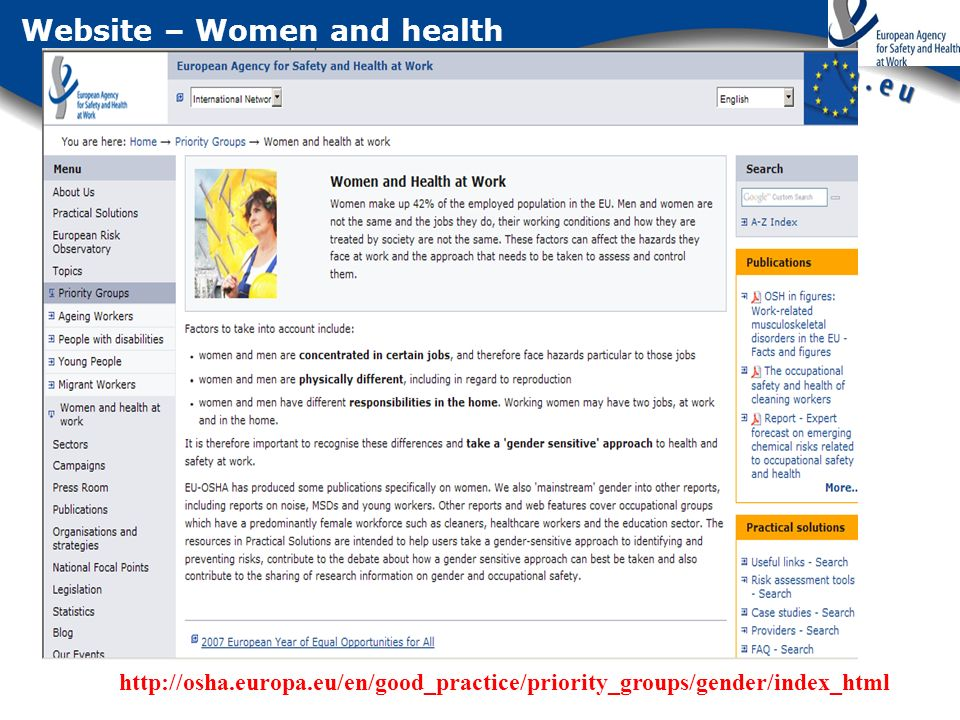 Website – Women and health
