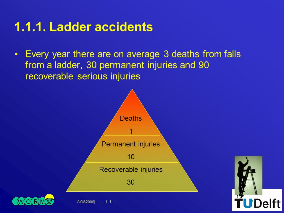 WOS2006| 31 Deaths 1 Permanent injuries 10 Recoverable injuries 30 1.1.1.