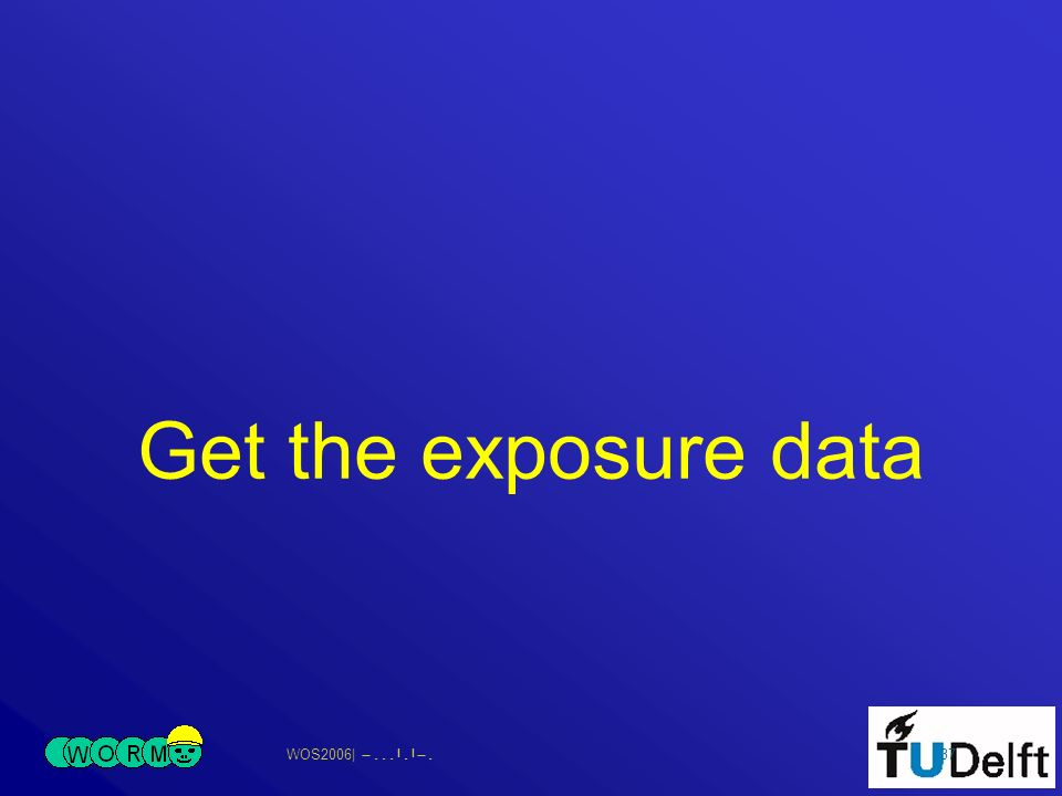 WOS2006| 37 Get the exposure data