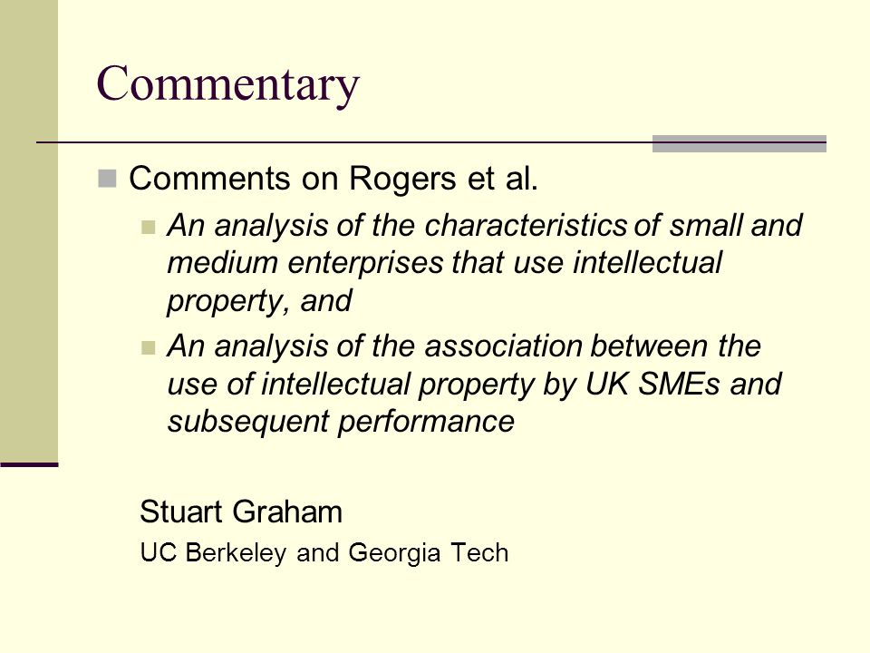 Commentary Comments on Rogers et al.
