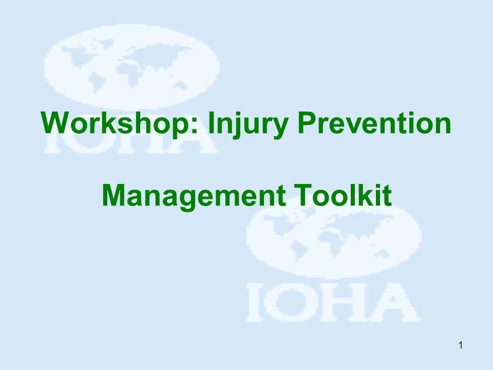 1 Workshop: Injury Prevention Management Toolkit