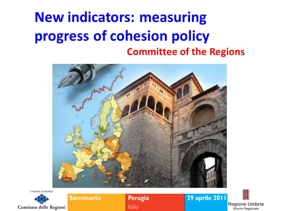 Thematic areas - Synthetic indexes Umbria location Evolution over time Rating Economic and production system12 Labour market11 Environment14 Social cohesion and security3 Education and training3 Innovation and Research9 Health and welfare7 The indicator multidimensional Main Results