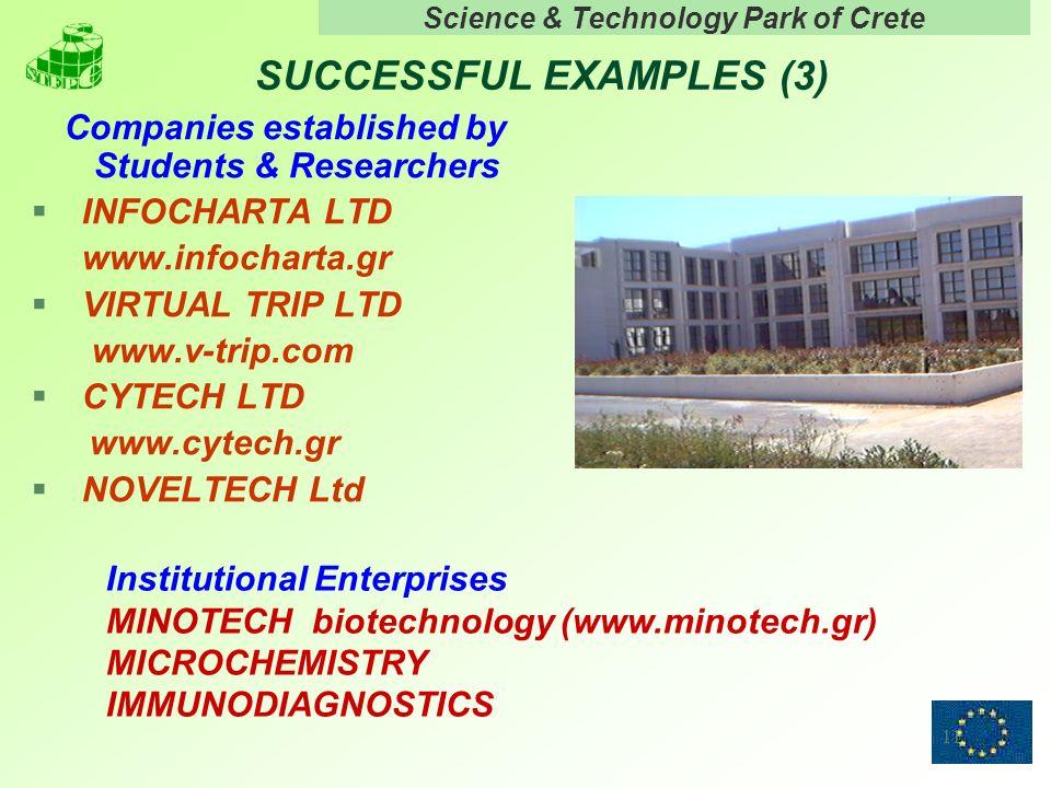 Science & Technology Park of Crete 11 SUCCESSFUL EXAMPLES (3) Companies established by Students & Researchers § INFOCHARTA LTD www.infocharta.gr § VIR