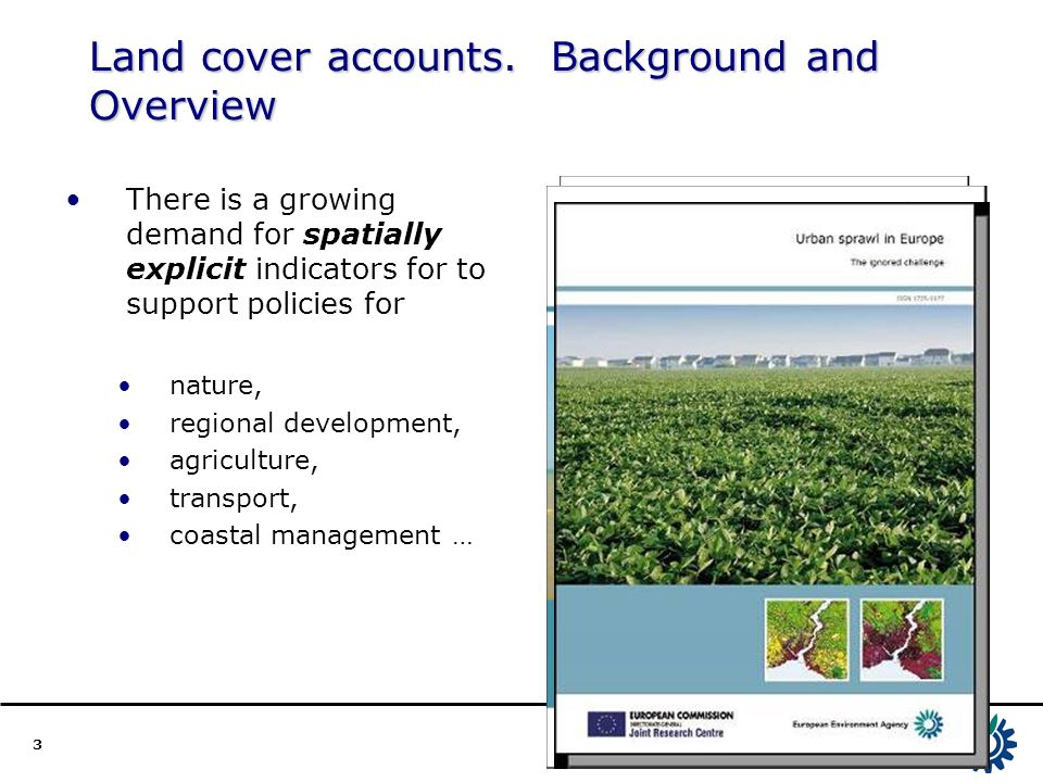3 Land cover accounts.