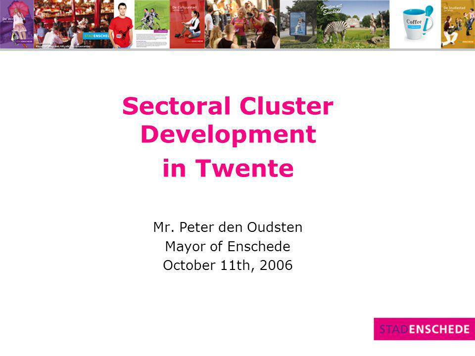 Example of cross border cluster Initiative Medical Product Development, TIMP, founded 1998 Cross-border cluster companies & institutions medical/revalidation technologies (17 Dutch & 6 German) TIMP supports members contacts potential clients Joint development new product-market combinations Contribution by the EU