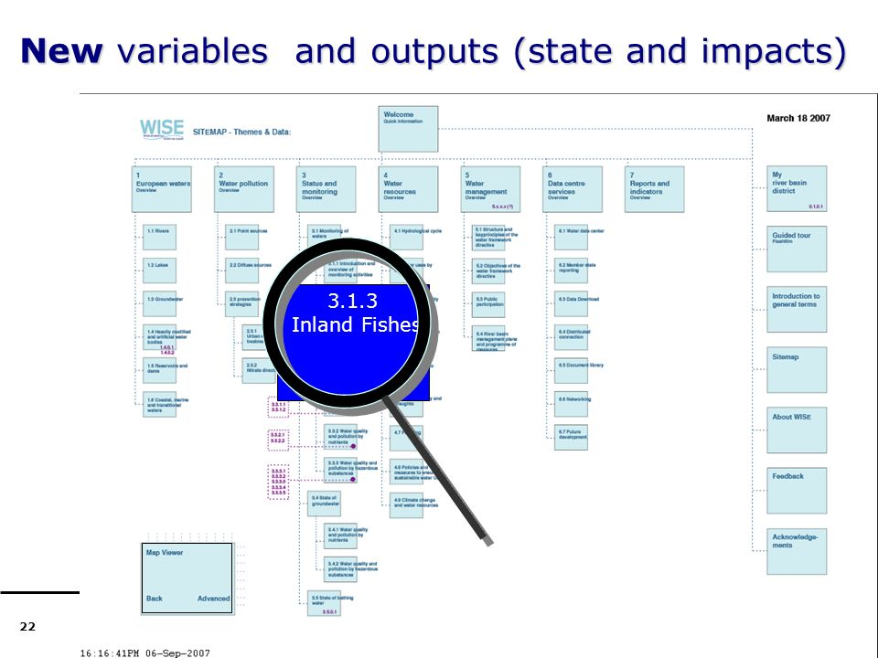22 New variables and outputs (state and impacts) 3.1.3 Inland fishes 3.1.3 Inland Fishes