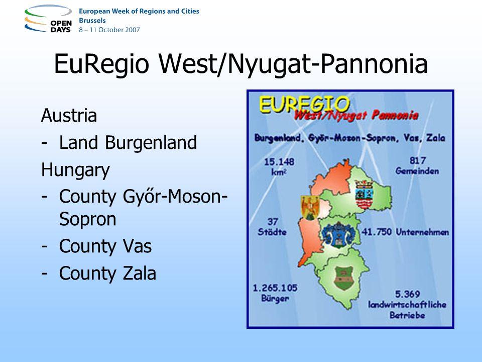 EuRegio West/Nyugat-Pannonia Austria -Land Burgenland Hungary -County Győr-Moson- Sopron -County Vas -County Zala