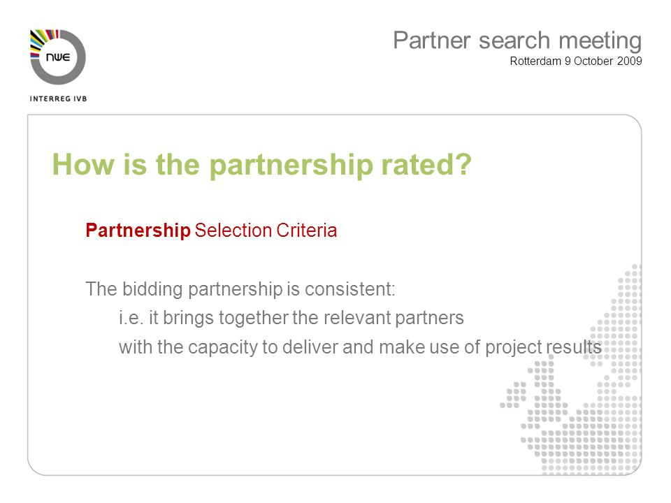 How is the partnership rated.