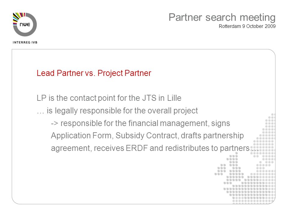 Lead Partner vs.