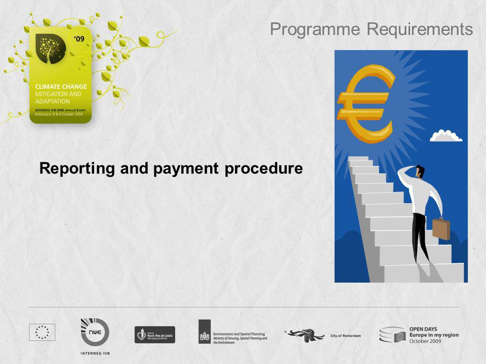 Reporting and payment procedure Programme Requirements