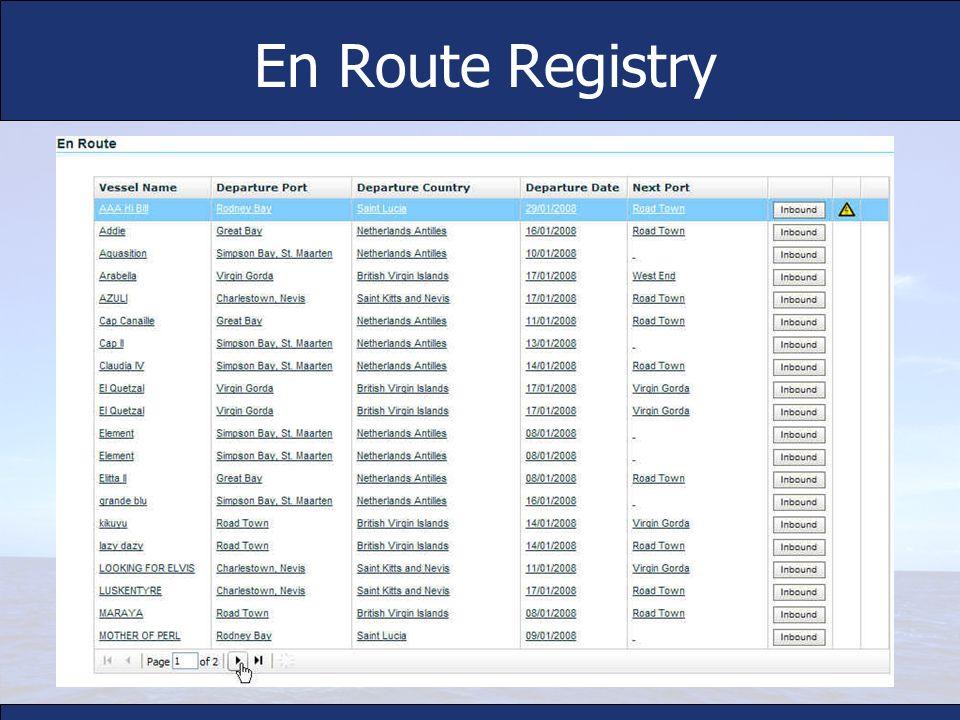 En Route Registry