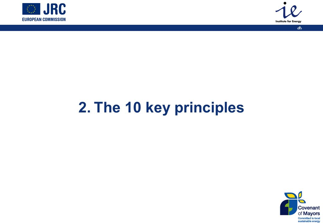 10 2. The 10 key principles