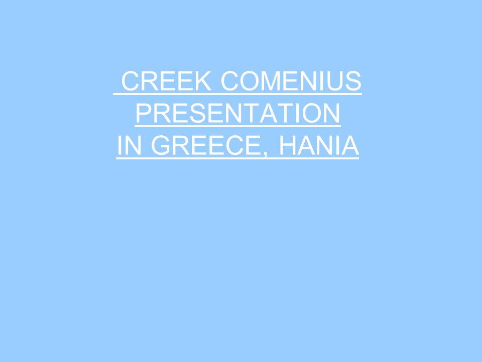 CREEK COMENIUS PRESENTATION IN GREECE, HANIA